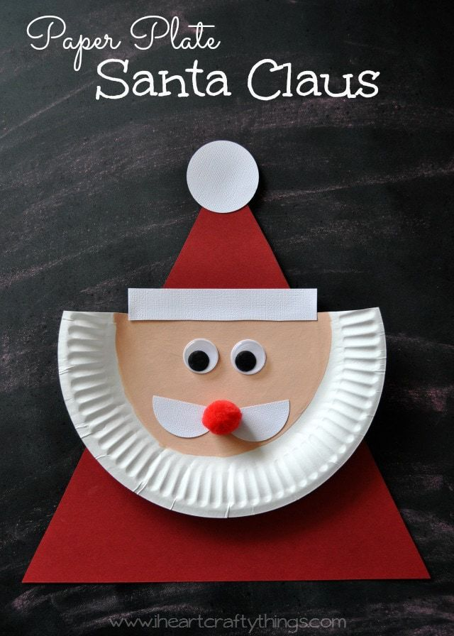 & Paper Plate Santa Claus | I Heart Crafty Things