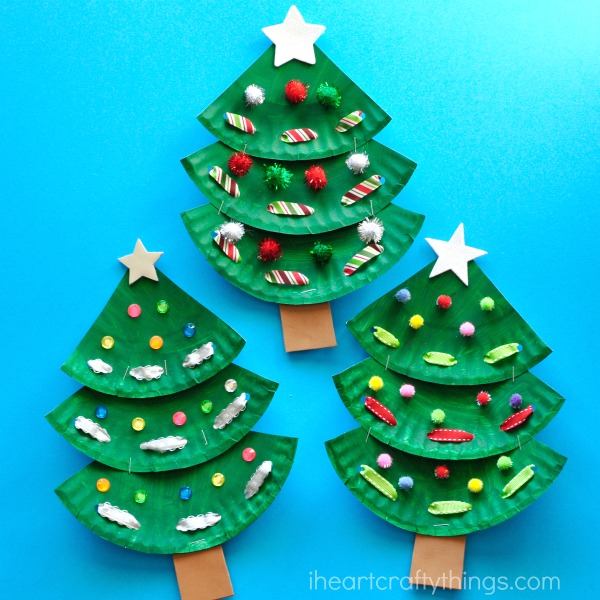 Superior Christmas Tree Decorating Ideas Crafts Part - 9: Glue On Any Sequin Or Embellishments That You Would Like To Decorate Your  Paper Plate Christmas Tree Craft. Such A Beautiful Piece Of Artwork To  Display For ...