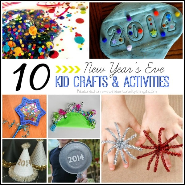 10 New Year S Eve Kid Crafts And Activities I Heart Crafty Things