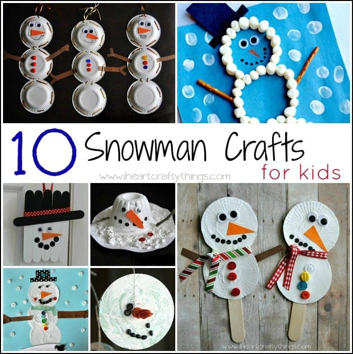 Amazing Snowman Craft Ideas For Kids Part - 7: 10 Snowman Crafts For Kids