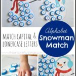 Alphabet Snowman: Match Capital and Lowercase  {Free Printable}