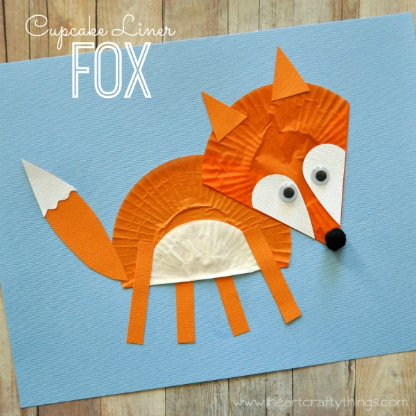 Cupcake Liner Fox Craft I Heart Crafty Things