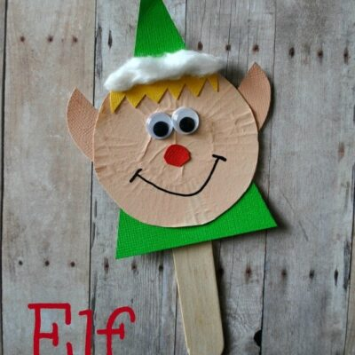 Elf Stick Puppet Craft