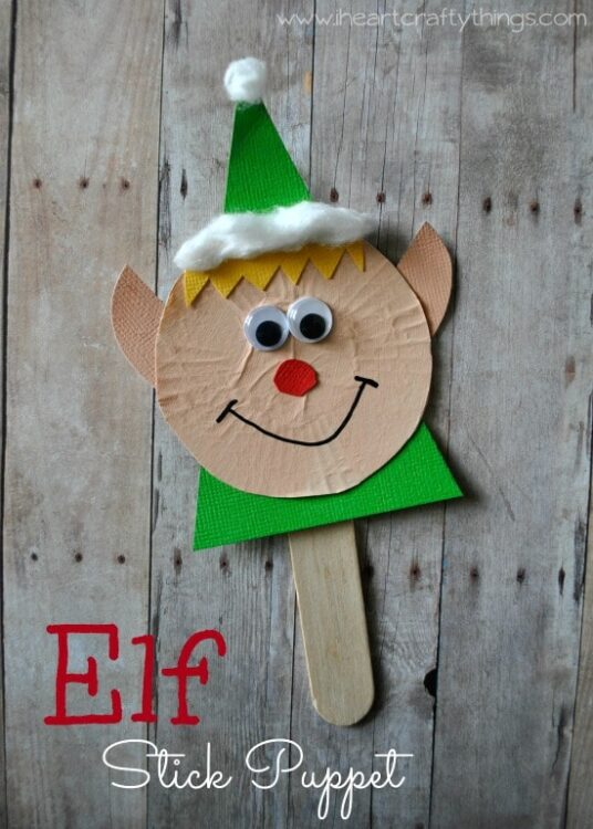 Elf Stick Puppet Craft I Heart Crafty Things