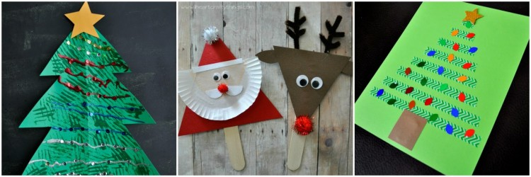 15 christmas crafts for kids i heart crafty things for Christmas tree art and craft