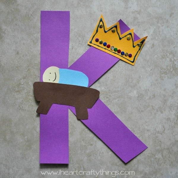 k is for king alphabet craft i heart crafty things. Black Bedroom Furniture Sets. Home Design Ideas