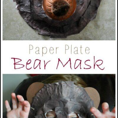 Paper Plate Bear Mask Craft