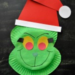 Paper Plate Grinch Craft