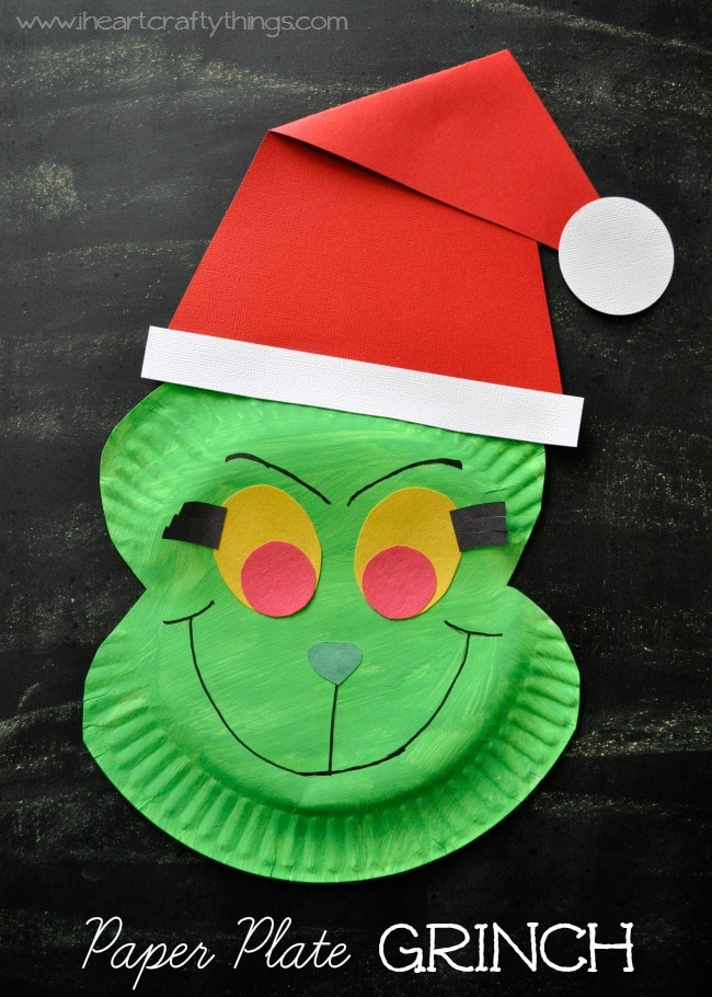 paper plate grinch craft i heart crafty things On christmas crafts made out of paper plates