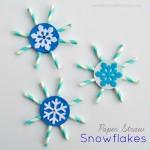 Paper Straw Snowflakes (Preschool Cutting Practice)