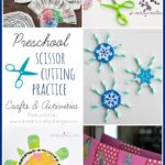 Preschool Scissor Cutting Practice Crafts and Activities