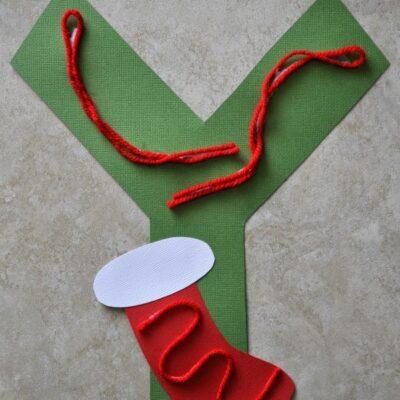 Y is for Yarn Alphabet Craft
