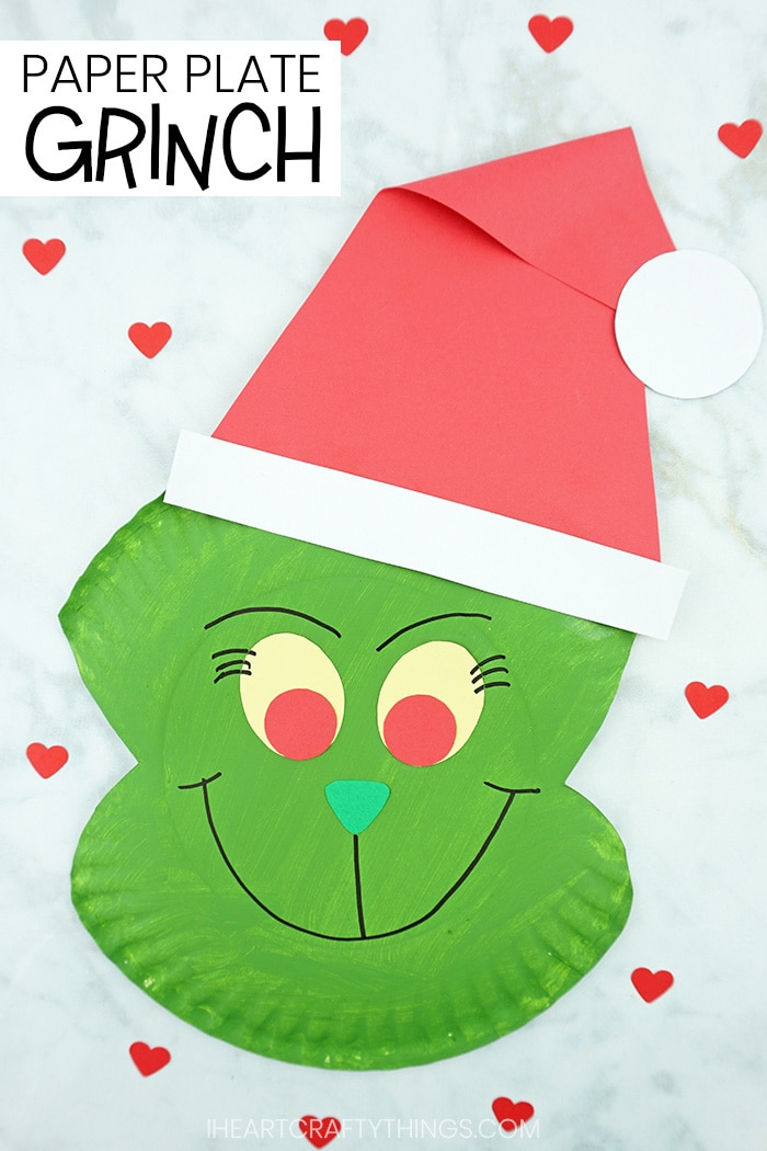 How To Make A Paper Plate Grinch Craft I Heart Crafty Things