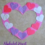 Alphabet Heart Letter Writing Practice