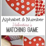 Alphabet and Number Valentine's Matching Game (Free Printable)
