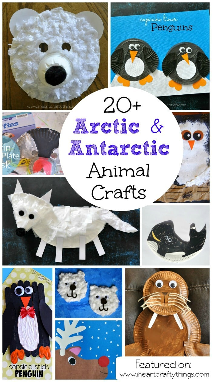 Looking for books about Arctic u0026 Antarctic Animals? & Best Winter Animal Crafts for Kids | I Heart Crafty Things