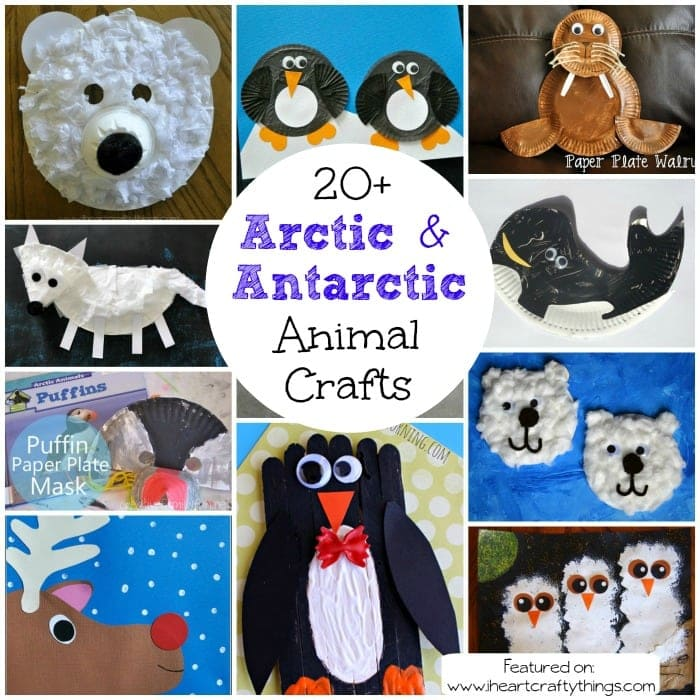 The Winter months are a great time to learn about Arctic and Antarctic Animals and there are so many fabulous children's books to accompany learning about them. Here is a round up of awesome Arctic and Antarctic Animal Crafts for Kids.