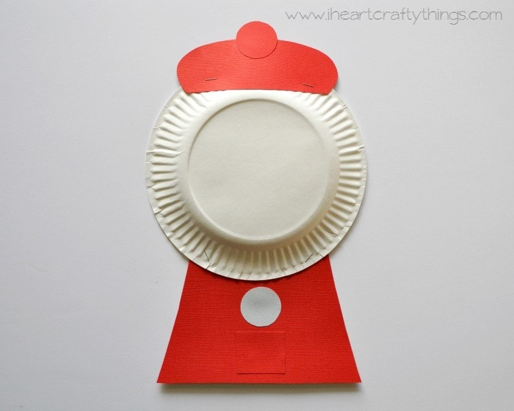 Paper plate bubble gum machine craft i heart crafty things for Paper mashing craft
