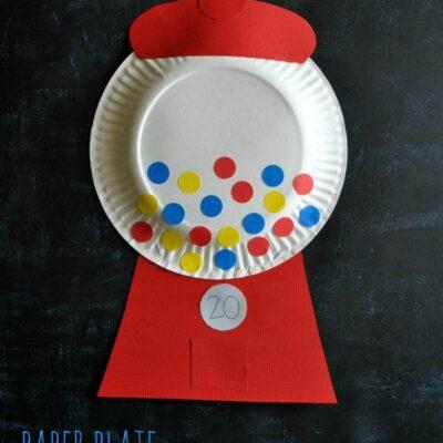 Paper Plate Bubble Gum Machine Craft
