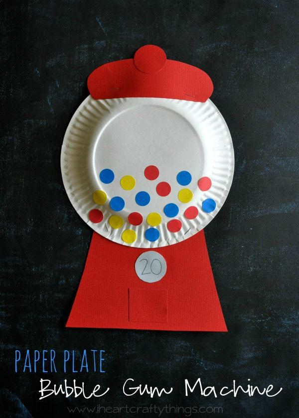 Paper Plate Bubble Gum Machine Craft I Heart Crafty Things