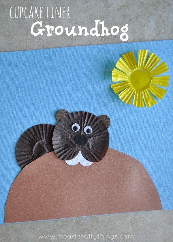 Cupcake Liner Groundhog Day Craft I Heart Crafty Things