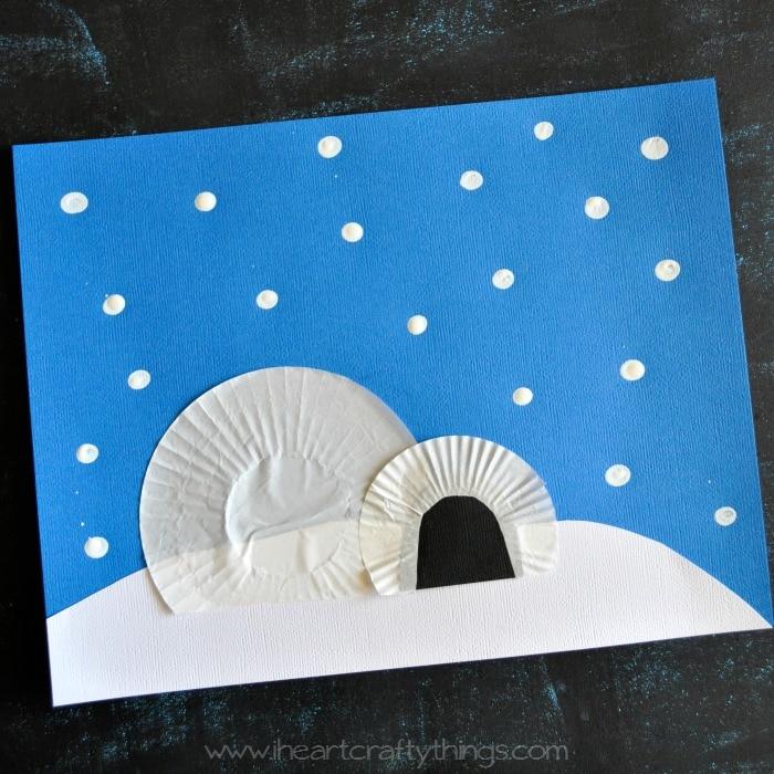 Preschool Winter Snow Crafts