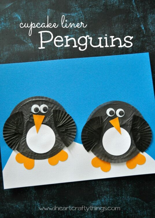Cupcake Liner Penguin Craft For Kids I Heart Crafty Things
