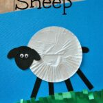 Cupcake Liner Sheep Craft for Kids