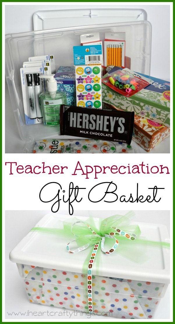 teacher appreciation gift basket i heart crafty things