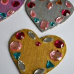 Jeweled Symmetry Heart Craft for Kids