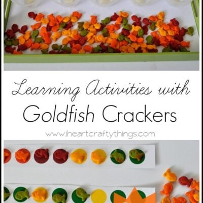 Learning Activities with Goldfish Crackers {Free Printable}