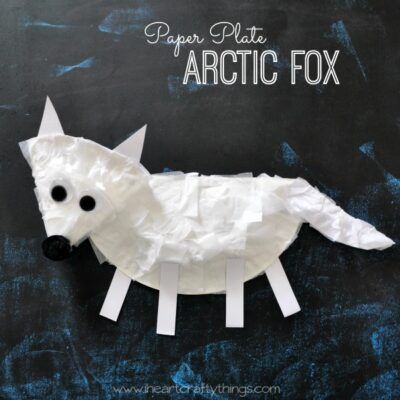 Paper Plate Arctic Fox Craft for Kids