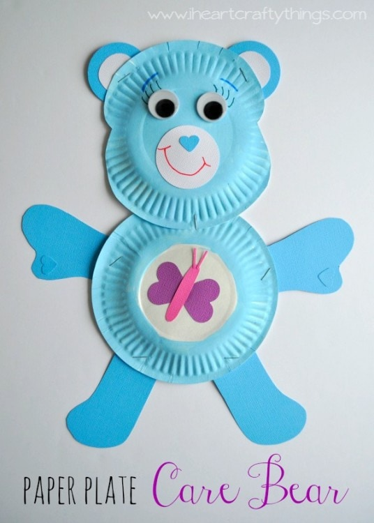 sc 1 st  I Heart Crafty Things & Paper Plate Care Bear | I Heart Crafty Things
