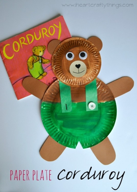 Paper Plate Corduroy Craft | I Heart Crafty Things