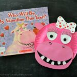 Paper Plate Hippopotamus with Valentine's Day Book