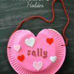 Paper Plate Heart Valentine's Holder