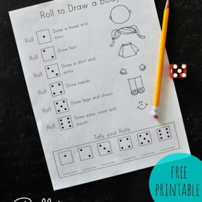 Roll to Draw a Body Game {Free Printable}