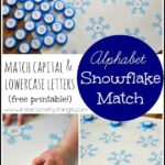 Snowflake Alphabet: Match Capital and Lowercase Letters (Free Printable)