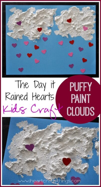 The Day it Rained Hearts Valentine\'s Day Kids Craft | I Heart Crafty ...