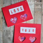 Marbled Hearts Valentine's Day Card