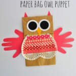 Valentine's Paper Bag Owl Puppet