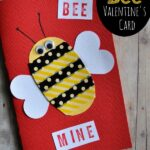 Washi Tape Bee Mine Valentine's Day Card