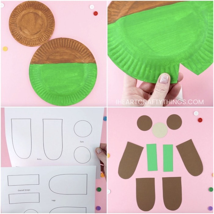 Paper Plate Corduroy Craft for Preschoolers -Grab the free