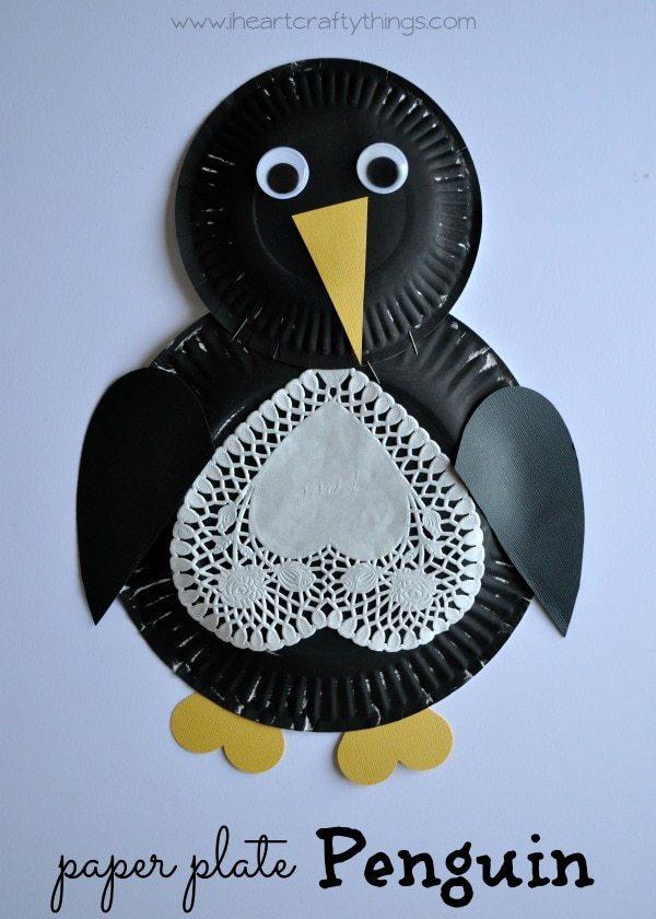 Polar bear masks i heart crafty things paper plate bear mask craft paper plate penguin craft for kids pronofoot35fo Gallery