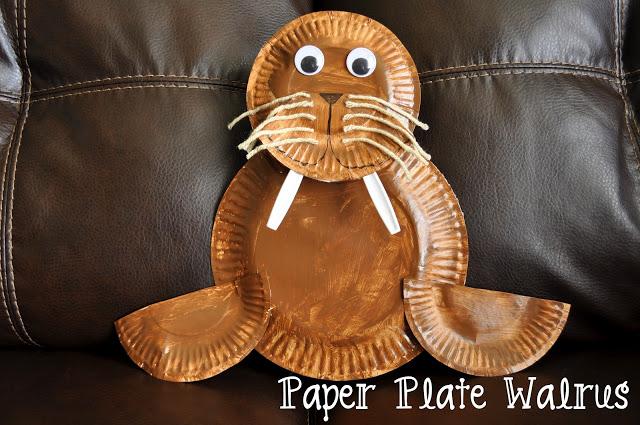 Walrus Paper Plate Craft