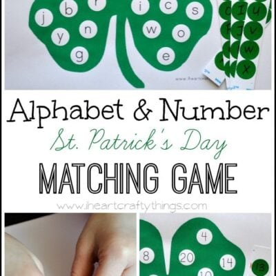 Alphabet and Number St. Patrick's Day Matching