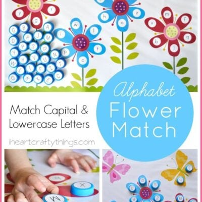 Flower Alphabet Matching Free Printable