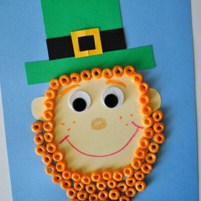 Fruity Cheerios Cereal Leprechaun Craft for Kids