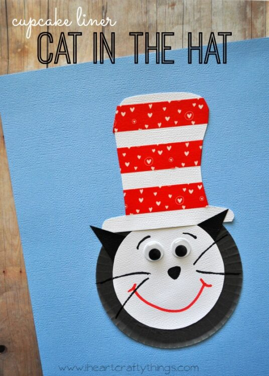 Cupcake Liner Cat In The Hat Craft For Kids I Heart
