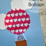 Cupcake Liner Hot Air Balloon Kids Craft